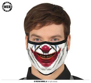 Mascherina Mostruosa Joker Psicopatico Assassino Horror Travestimento Halloween