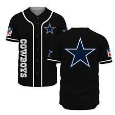 Black Dallas Cowboys Fanmade Baseball Jersey