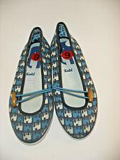 Keds Eleanor Elephant 6 blue women's ballet flats slip on canvas sneakers shoes
