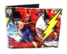 DC COMICS THE FLASH SUBLIMATED PRINT GRAPHIC PU FAUX LEATHER MENS BIFOLD WALLET
