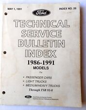 1986 - 1991 FORD CAR AND TRUCK AND LINCOLN MERCURY  TECHNICAL BULLETIN MANUAL