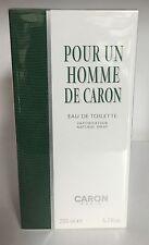 Caron Pour Un Homme 6.7oz / 200 ml Men's Eau de Toilette Spray,HUGE SIZE,New .!!