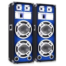 PACK 2 ENCEINTES DJ PA DISCO SONO BASSES 1600W HAUT PARLEUR EFFET LUMINEUX LED