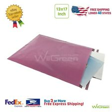 #6 13 x 17 inch 2.0MIL Poly Mailers Shipping Envelopes Packaging Bags, Rose Pink