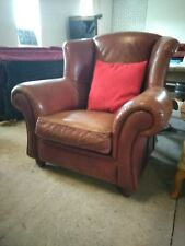 Large comfy wingback Leather Armchair chair Delivery Possible