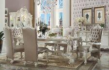 Acme Versailles Rect. Trestle White 7 Piece Dining Room Set Furniture 61145