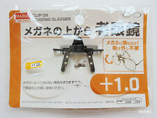 Daiso Japan +1.0 OPTICAL CLIP ON READING GLASSES Flip-up Magnifying