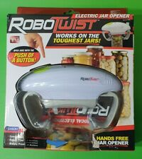 RoboTwist As Seen On Tv White Abs Battery Operated Bottle/Jar Opener