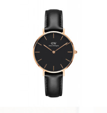 Daniel Wellington Women's Watch Classic Black Face Sheffield Black Leather 32mm