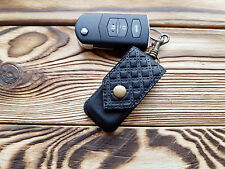 Genuine Leather Key Hard Case Black Key Holder Organizer Key Cover Man Unisex