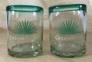 Lot Of 2 Casamigos Tequila Hand Blown Rocks Glasses 12 oz