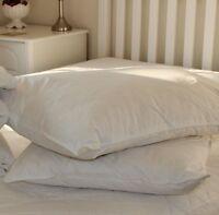 European White Duck Feather & Down Pillows