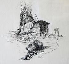C1910 Stanley Arthurs Pyle School Delaware Illustration Art Gouache Ink Drawing
