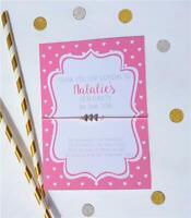 Personalised Bride Tribe Heart Wedding Wish Bracelet Hen Party Favour Black Pink
