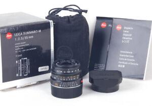 @1st production@ Leica Summarit-M 35mm f/2.5 Black 11643 6bit #4200001