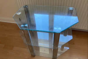 2 x Glass top TV tables