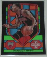 2013/14 Derrick Rose Bulls Panini Innovation Stained Glass Insert Card #62 MT