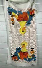 """Vtg Sesame Street Beach Towel Bert Ernie Big Bird Cookie Monster 39"""" x 23 3/4"""""""
