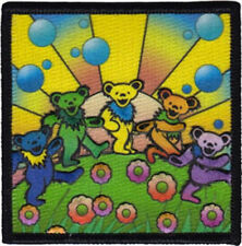 Grateful Dead Bear Utopia Embroidered Patch / Iron On Applique, Band, 70s, Kids