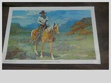 Cowboy Placemat Oklahoma Museum Across the Sagebrush Johnson table