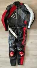 Lederkombi Dainese Gr. 52 Top Motorradkombi Schwarz Rot Weiß Leather Suit Kombi