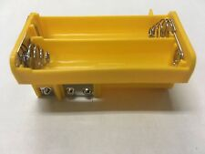 NEW*OEM YELLOW AA BATTERY TRAY RADIO SHACK PRO-651 PRO-106 GRECOM PSR-500 WS1040
