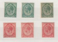 South Africa KGV 1913 1/2d 1d Collection Shades MLH J4607