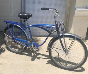 """2000s Vintage Schwinn """"Cruiser Deluxe"""" 1 Speed in Blue Anniversary Bike - Great"""