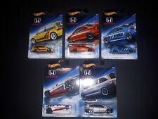 Hot Wheels HONDA Lot Of 5 Cars!!!