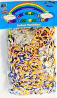 Loom Bands Stripe Patterned 600 Assorted Color Rubber Jewellery Art Work