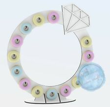 Y364 Bubbles Wall, Prosecco Wall, Champagne Wall, Freestanding XXL DONUT WALL