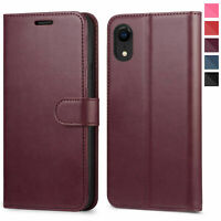 Leather Wallet Magnetic Flip Case with strap for Apple iPhone 8 or 8 Plus