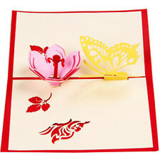 3D Laser Cut Butterfly Greeting Cards Flower Mother's Day Cards Invitation