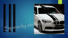 3PCS Vinyl Racing Stripe Car Sticker Decal For any car bmw audi seat skoda A379