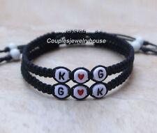 Initials Couples Bracelets  Boyfriend Girlfriend Jewelry  Anniversary Gift