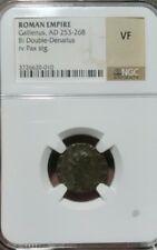 Gallienus AD253-268 Bi Double-Denarius Copper Very Fine NGC. Roman Empire