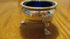 Fisher Sterling Silver Cobalt Glass Salt Cellar
