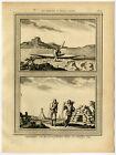 Antique Print-NORTH AMERICA-ESKIMO-CANOE-HUDSON BAY-CANADA-Bellin-Schwabe-1758