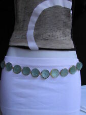 New Women Belt Fashion Gold Metal Big Mint Blue Gummy Drop Chains 27