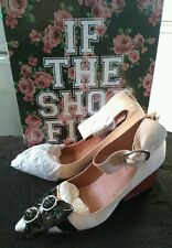 Jeffrey campbell shoes size 8 taupe leather multi bow NEW