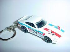 NEW 3D DATSUN 240Z CUSTOM KEYCHAIN keyring key White racing finish race JAPAN Z