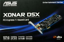 Asus Xonar Sound Card Used DSX 7.1-Channel PCIe 192k/24-bit audio 3D sound