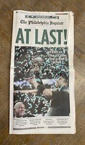 PHILADELPHIA EAGLES 2018 SUPER BOWL LII 52 NEWSPAPER- Philadelphia Inquirer