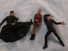 Lot of 3 Matrix Movie Action Figures Girl & 2 Guys Loose