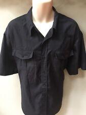 New Mens Atlantic Traders Short Sleeve Casual Button Down Shirt Black Sz 1XBIG