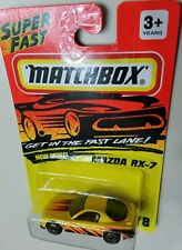MATCHBOX 1993 #8 MAZDA RX-7 SUPERFAST MINT IN BLISTER