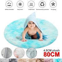Floor Mat Soft Plush Round Carpet Blanket Rug Area Cushion Home Room Decor -)