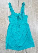 Kimchi Blue Dress size M Womens Teal Zip Front Viscose Summer Turquoise Empire