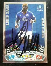 Louis Saha SIGNED Everton Match Attax Star Player Card