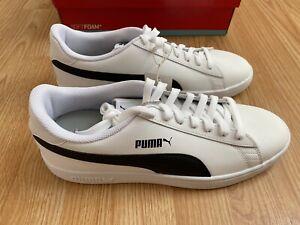 PUMA Men's Smash V2 Leather Fashion Athletic Classic Sneakers Shoes White 11